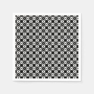 Graphic Black & White Design Disposable Serviette