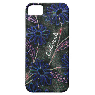 graphic blue flowers case for the iPhone 5