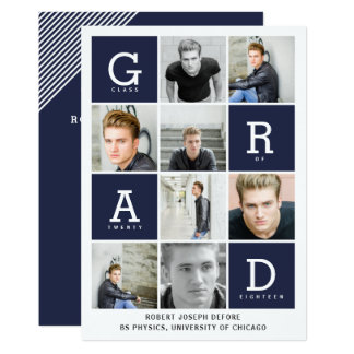 GRAPHIC BOXES GRADUATION CARD