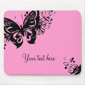 GRAPHIC BUTTERFLY IN pink mousepad