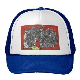 graphic mesh hats