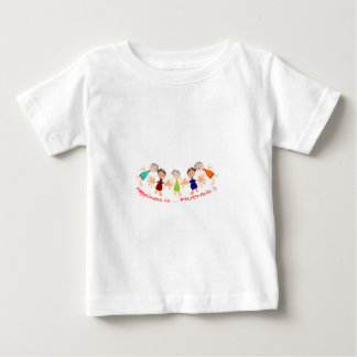 Graphic Characters with Text Happiness_is_Friends Baby T-Shirt