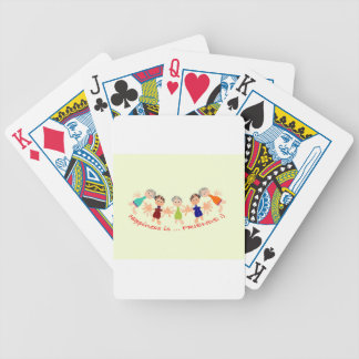 Graphic Characters with Text Happiness_is_Friends Bicycle Playing Cards