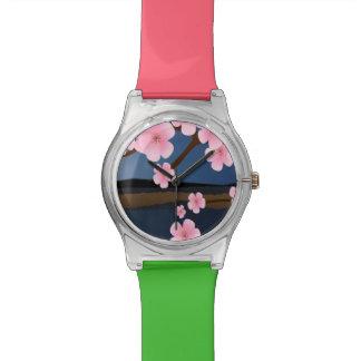 Graphic Cherry Blossom Wristwatch