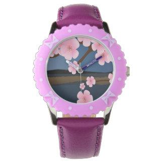 Graphic Cherry Blossom Wristwatches