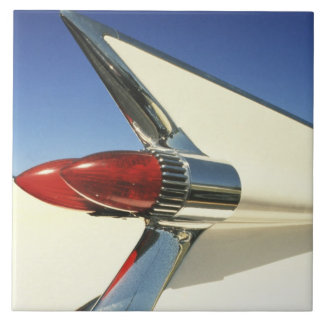 Graphic: Close-up of fin and taillight on Large Square Tile