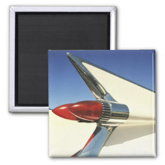 Graphic: Close-up of fin and taillight on Square Magnet