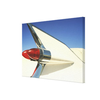Graphic: Close-up of fin and taillight on Stretched Canvas Print