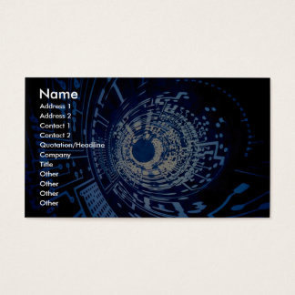 Graphic computer circuit tunnel business card