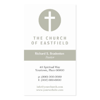 Graphic Cross Taupe Double-Sided Standard Business Cards (Pack Of 100)