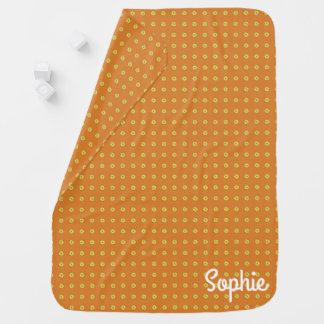 Graphic Daisies | Orange Swaddle Blankets