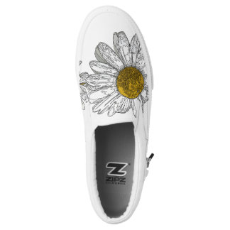 Graphic Daisy Slip on Shoes Printed Shoes