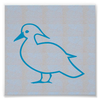 Graphic decorations Sea Beach BIRDS FLY Poster