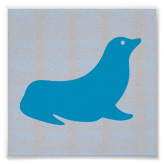 Graphic decorations Sea Beach SEAL FISH DIVE Poster