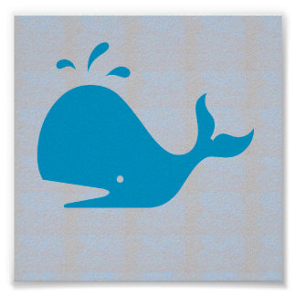 Graphic decorations Sea Beach WHALE FISH DIVE Poster