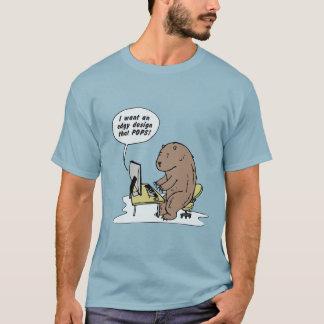 Graphic Design Bear - T-shirt