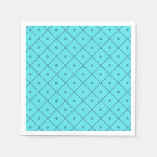 Graphic Design Blue Pattern Disposable Napkin