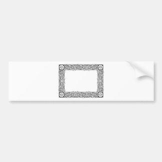 Graphic design decorative frame bumper sticker