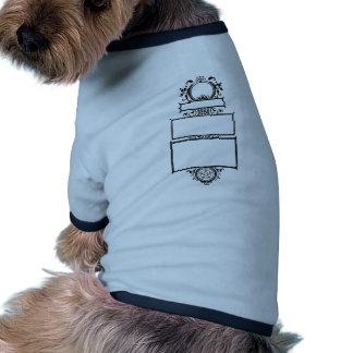 Graphic design decorative frame doggie t shirt