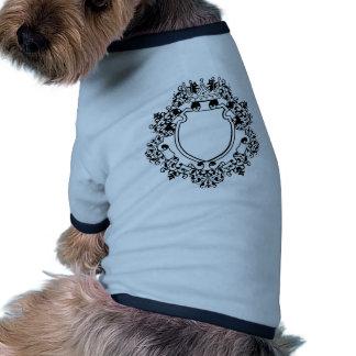 Graphic design decorative frame pet t shirt
