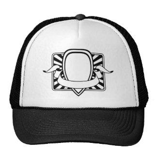 Graphic design decorative frame mesh hat