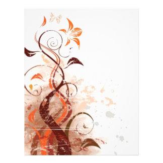 Graphic Design Floral 21.5 Cm X 28 Cm Flyer