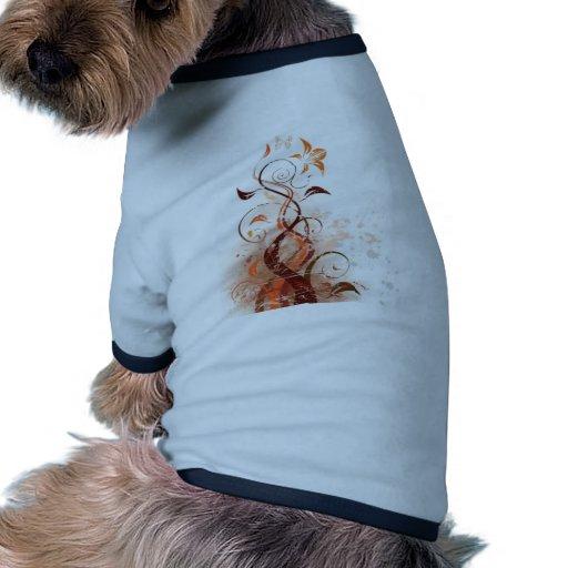 Graphic Design Floral Pet Tshirt
