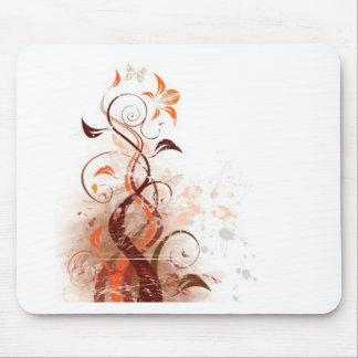 Graphic Design Floral Mouse Pad