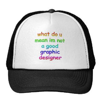 graphic design mesh hat