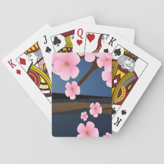 Graphic Design of Cherry Blossom Playing Cards