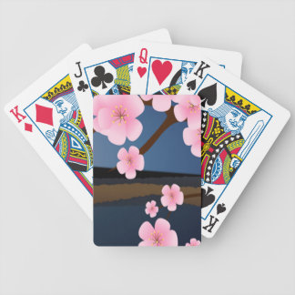 Graphic Design of Cherry Blossom Poker Deck