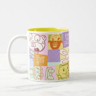 graphic design Two-Tone coffee mug