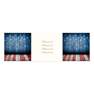 graphic design, us flag colors and decor on wood w pack of skinny business cards