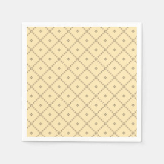 Graphic Design Yellow Pattern Paper Napkin