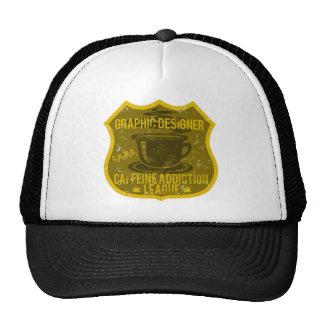 Graphic Designer Caffeine Addiction League Trucker Hats