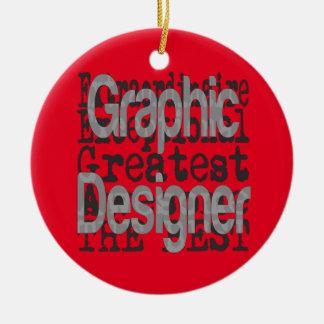 Graphic Designer Extraordinaire Ceramic Ornament