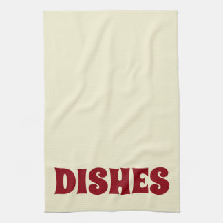 GRAPHIC DISHES KITCHEN TOWEL