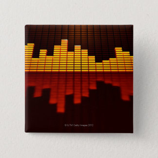 Graphic Equalizer Display 15 Cm Square Badge