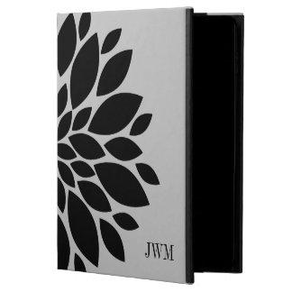 Graphic Floral Black Gray Flower Petal Monogram Powis iPad Air 2 Case