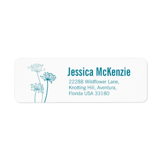 Graphic floral cows parsley slim reply labels
