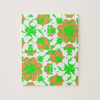 Graphic Floral Pattern Jigsaw Puzzle