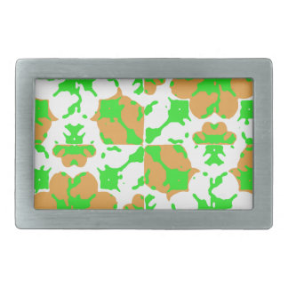 Graphic Floral Pattern Rectangular Belt Buckles