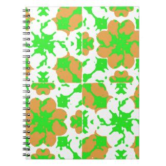 Graphic Floral Pattern Spiral Notebook