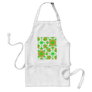 Graphic Floral Pattern Standard Apron