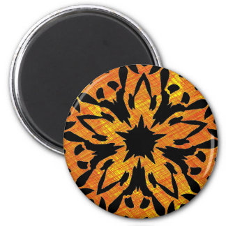 Graphic Flower 6 Cm Round Magnet