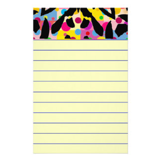 Graphic Flower Stationery
