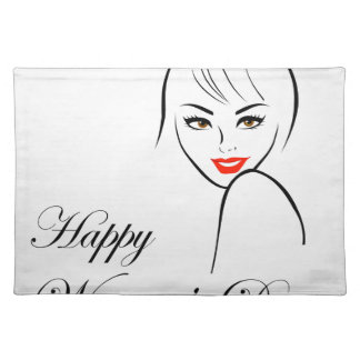 Graphic for womens day place mats