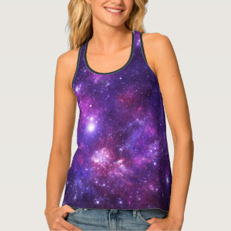 Graphic Galaxy All Over Racer Tank Top