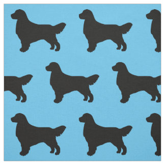 Graphic Golden Retriever Dog Silhouette Pattern Fabric