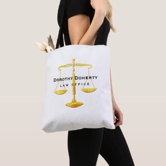 Graphic Golden Scales of Justice | Lawyer Tote Bag